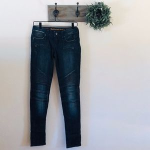NEW Rock Revival Dark Sheryl Skinny Moto Jeans 26